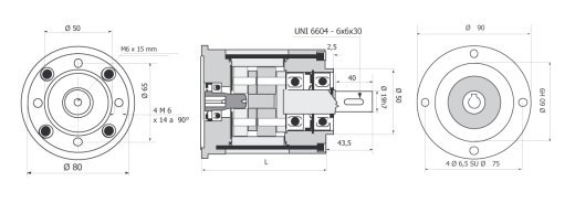 Gear box R80 63 B 14 drawing BERNIO